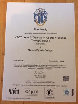 Treat & Train Paul Healy NSC VTCT